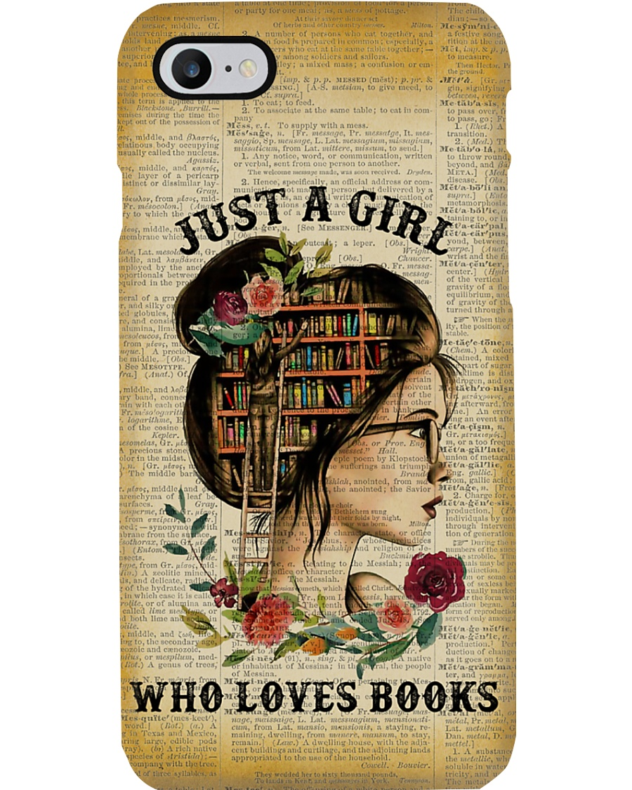 Just A Girl Who Loves Books Reading Phone Case