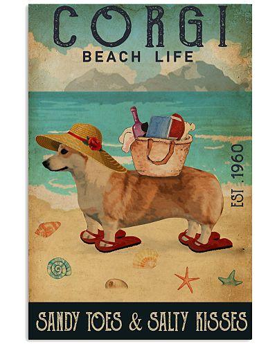 Beach Life Sandy Toes Corgi