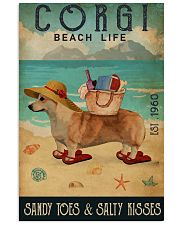 Beach Life Sandy Toes Corgi 11x17 Poster front