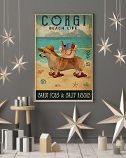 Beach Life Sandy Toes Corgi 11x17 Poster lifestyle-holiday-poster-1