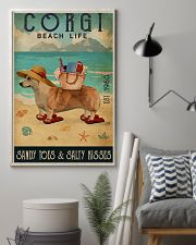 Beach Life Sandy Toes Corgi 11x17 Poster lifestyle-poster-1