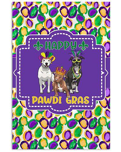 Funny Pawdi Gras Pit Bulls