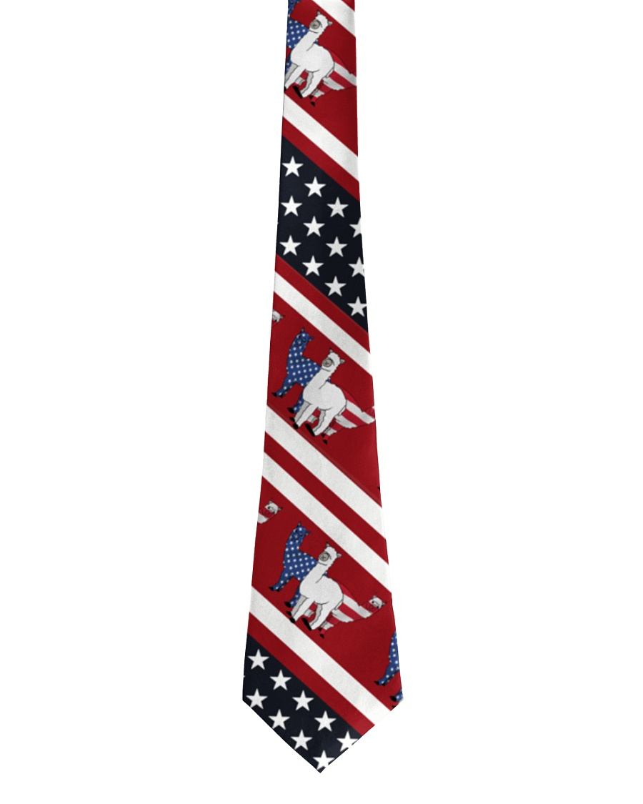 Alpaca Us Flag Tie