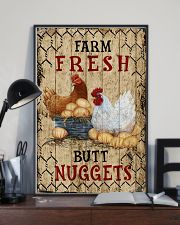 Chicken Farm Fresh Butt Nuggets 16x24 Poster lifestyle-poster-2