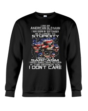 American old man-stupidity-sarcasm-september Crewneck Sweatshirt thumbnail