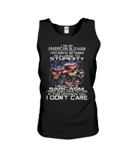 American old man-stupidity-sarcasm-september Unisex Tank thumbnail