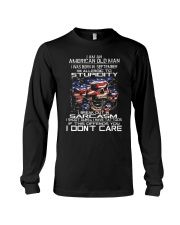 American old man-stupidity-sarcasm-september Long Sleeve Tee thumbnail