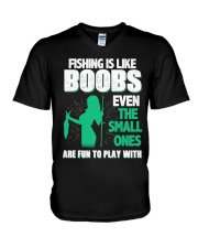 Fishing is like boobs V-Neck T-Shirt thumbnail