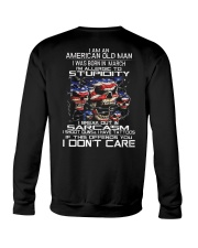 American old man-stupidity-sarcasm-March Crewneck Sweatshirt thumbnail