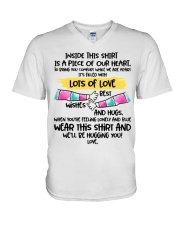 Piece of our heart lots of love V-Neck T-Shirt thumbnail