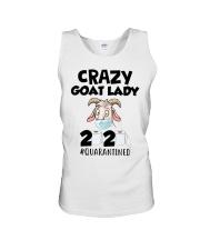 Crazy Goat Lady 2020 quarantined Unisex Tank thumbnail