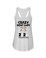 Crazy Goat Lady 2020 quarantined Ladies Flowy Tank thumbnail