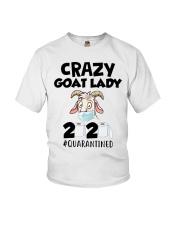 Crazy Goat Lady 2020 quarantined Youth T-Shirt thumbnail