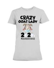 Crazy Goat Lady 2020 quarantined Premium Fit Ladies Tee front