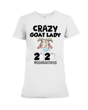 Crazy Goat Lady 2020 quarantined Premium Fit Ladies Tee thumbnail