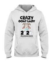 Crazy Goat Lady 2020 quarantined Hooded Sweatshirt thumbnail