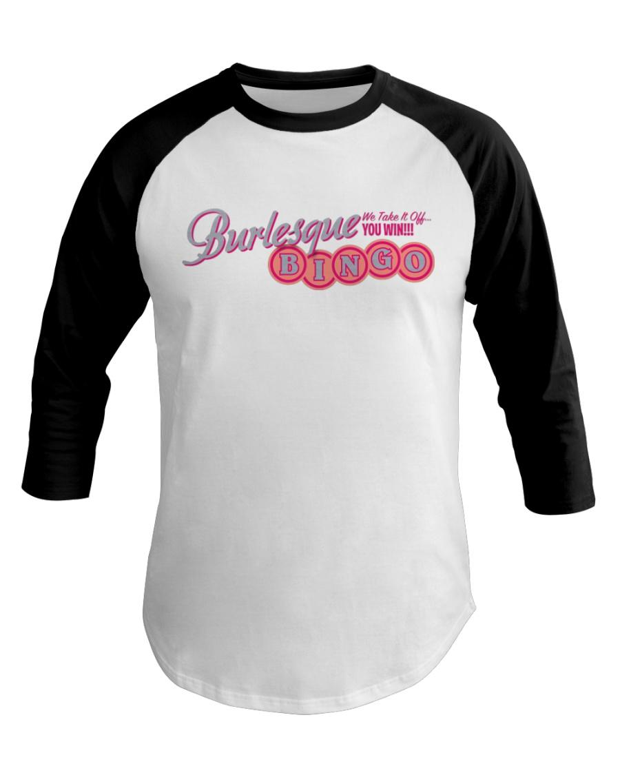Audrey DeLuxe's Burlesque Bingo logo merch Baseball Tee