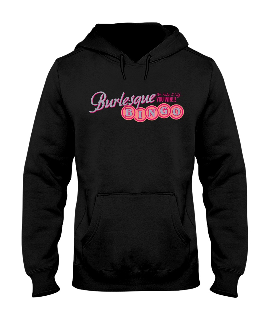 Audrey DeLuxe's Burlesque Bingo logo merch Hooded Sweatshirt