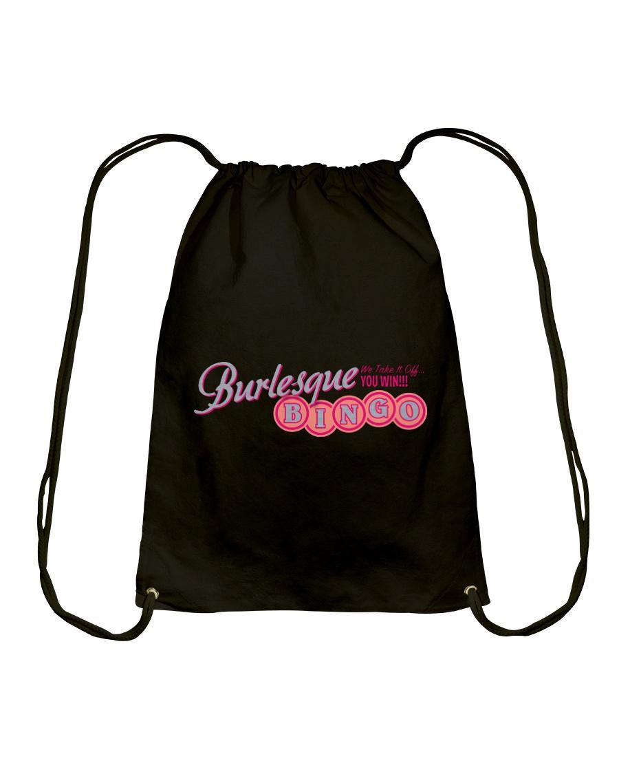 Audrey DeLuxe's Burlesque Bingo logo merch Drawstring Bag