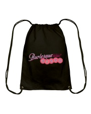 Audrey DeLuxe's Burlesque Bingo logo merch Drawstring Bag tile