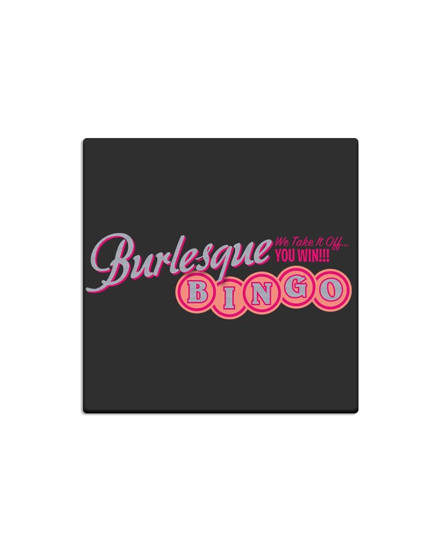 Audrey DeLuxe's Burlesque Bingo logo merch Square Magnet