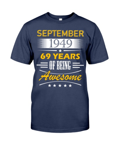 SEPTEMBER 1949-69 YEARS YEARS OF BEING AWESOME
