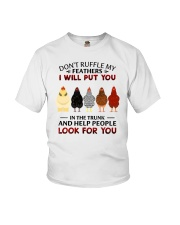 Don't Ruffle My Feathers Chicken Youth T-Shirt tile