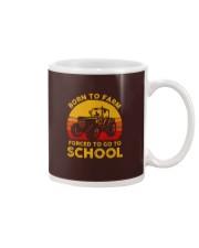 Born To Farm Force To Go To School Mug tile