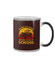 Born To Farm Force To Go To School Color Changing Mug tile
