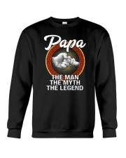 Papa The Man The Myth The Legend Crewneck Sweatshirt tile