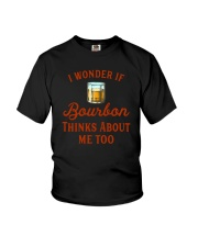 I Wonder If Bourbon Thinks About Me Too Youth T-Shirt tile