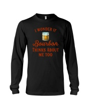 I Wonder If Bourbon Thinks About Me Too Long Sleeve Tee tile