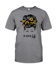 Mom Life Sunflower Classic T-Shirt front