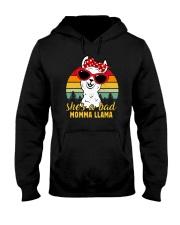 She's A Bad Momma Llama Vintage Hooded Sweatshirt tile