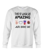 This Is What An Amazing Aunt Looks Like Crewneck Sweatshirt tile