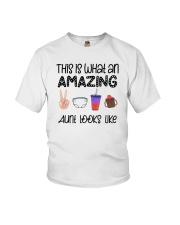 This Is What An Amazing Aunt Looks Like Youth T-Shirt tile