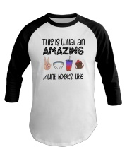 This Is What An Amazing Aunt Looks Like Baseball Tee tile