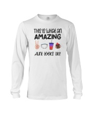 This Is What An Amazing Aunt Looks Like Long Sleeve Tee tile