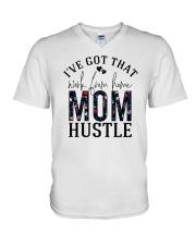 I've Got That Work From Home Mom Hustle V-Neck T-Shirt tile