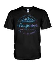 Miracle Worker Promise Keeper Waymaker V-Neck T-Shirt tile