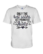 Only The Best Sisters Get Promoted To Aunts V-Neck T-Shirt tile