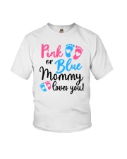 Pink Or Blue Mommy Loves You Youth T-Shirt tile