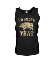 I'd Smoke That Pig BBQ Unisex Tank tile