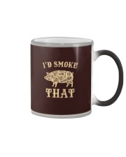 I'd Smoke That Pig BBQ Color Changing Mug tile