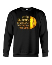 At The Ballpark Is Where I Spend Most Of My Days Crewneck Sweatshirt tile
