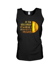 At The Ballpark Is Where I Spend Most Of My Days Unisex Tank tile