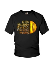 At The Ballpark Is Where I Spend Most Of My Days Youth T-Shirt tile