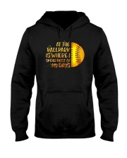 At The Ballpark Is Where I Spend Most Of My Days Hooded Sweatshirt tile