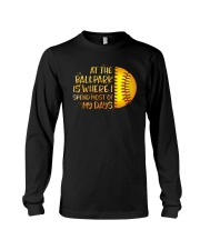 At The Ballpark Is Where I Spend Most Of My Days Long Sleeve Tee tile