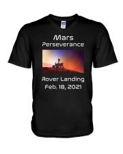 Mars Perseverance Rover Landing Feb 18 2021 V-Neck T-Shirt tile